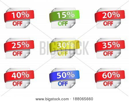 Discount price tags. File is in eps10.
