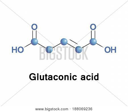 Glutaconic acid is an organic compound. This dicarboxylic acid exists as a colorless solid and is related to the saturated chemical glutaric acid. Esters and salts of it are called glutaconates.