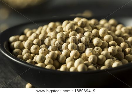 Dry Organic White Peppercorns