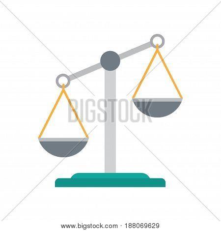 Scales of justice icon. Empty scales. Law balance symbol. vector illustration.
