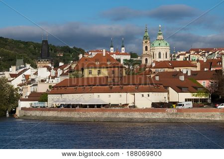 Mala Strana In Prague, Viewed From The Vltava River