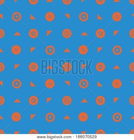 Simple seamless geometric blue pattern of circles