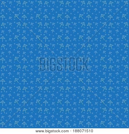 Vector illustration of a blue pattern with a cocktail umbrella