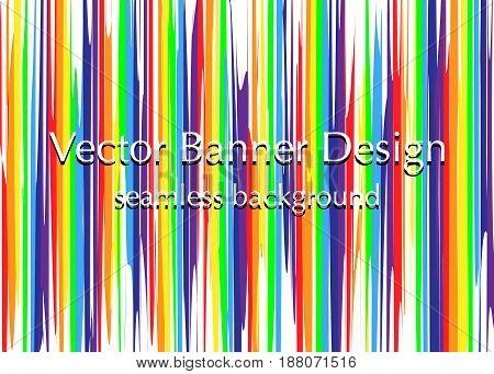lights rainbow banner banner seamless vector pattern design
