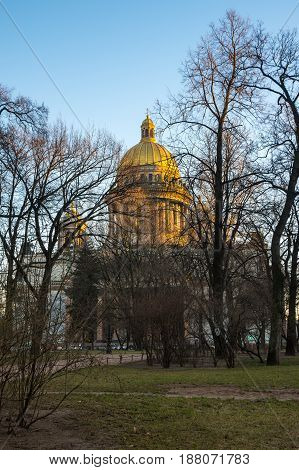 Saint Isaac's Cathedral in Saint Petersburg Russia