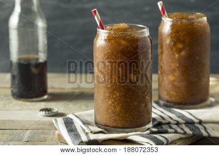 Frozen Homemade Soda Pop Slushy Drink
