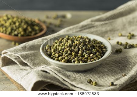 Raw Green Organic Peppercorns
