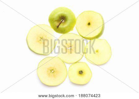Apple Cut Into Seven Pieces