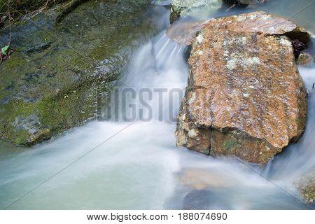 Arkansas Stream with Rocks and rushing water