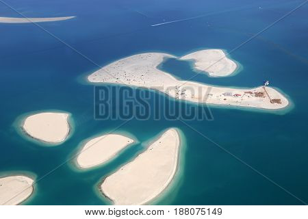 Dubai The World Clarence Island Islands Aerial View Photography