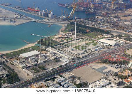 Dubai Union House Etihad Museum Jumeirah Aerial View Photography