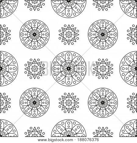 Seamless pattern with circles and spirals for your design