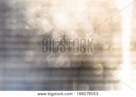 Polycarbonate blurry with patches of texture design light beige with orange