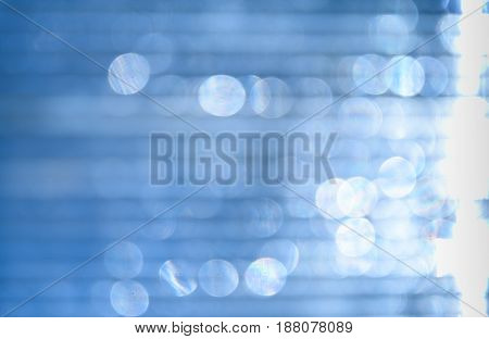 Polycarbonate Blurry With Patches Of Texture Design, Light Blue