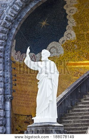 Basilica of the Immaculate Conception in Lourdes, France