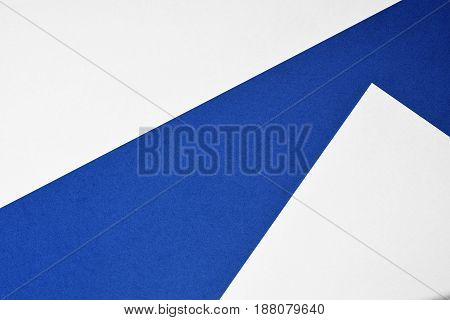 Abstract paper background in blue and white
