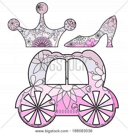 Fairy tale set with transition colors vector