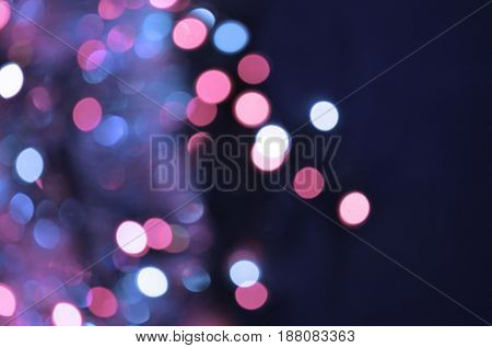 Abstract Bokeh Blurred Color Light