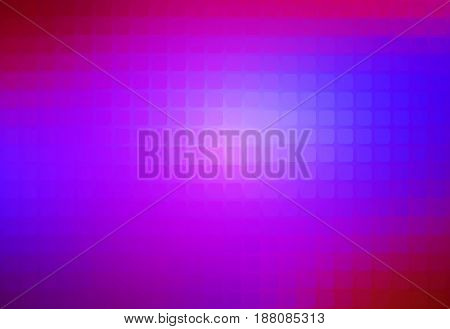Pink purple blue vector abstract rounded corners square tiles mosaic over blurred background