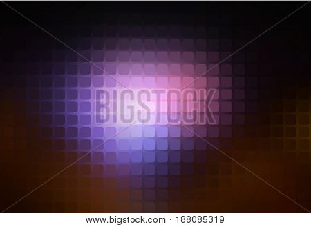 Purple brown black vector abstract rounded corners square tiles mosaic over blurred background