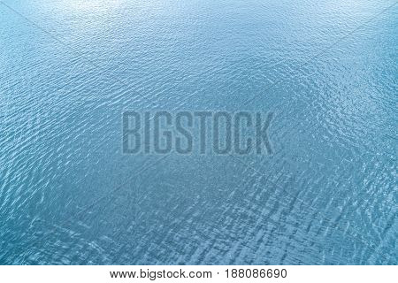 Natural Background, Water Texture With Waves, On The Whole Frame. Horizontal Frame
