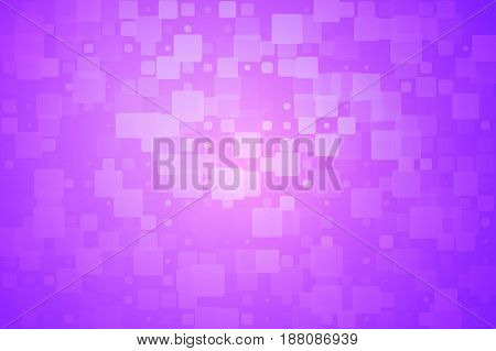 Purple pink vector abstract glowing background with random sizes rounded corners tiles