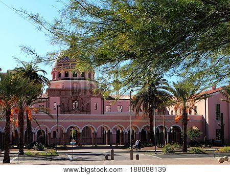 Old Pima County Courthouse in Tucson, Arizona