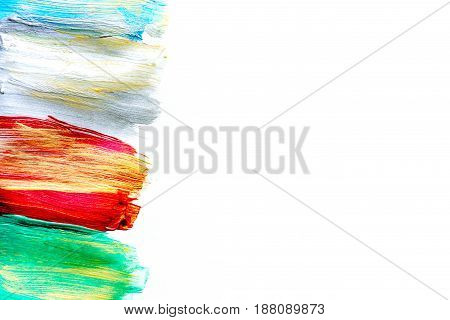 Color oil painting texture for bright abstract background space for text