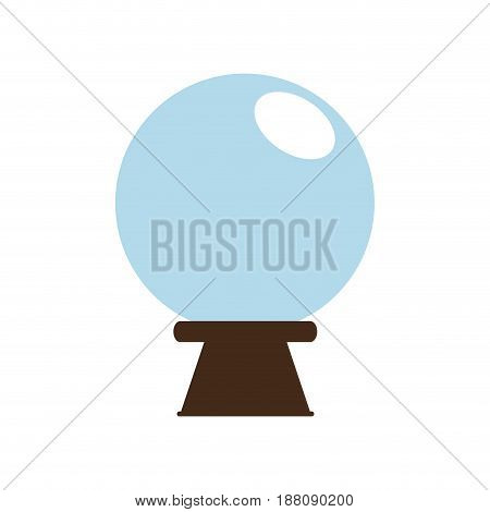 magic ball icon over white background. vector illustration