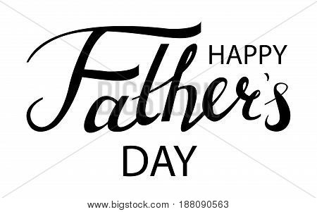 Happy fathers day typography. Vintage lettering for greeting cards, banners, t-shirt design.