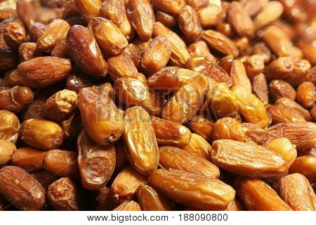 Fresh Date Fruits As Background