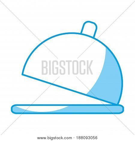 restaurant platter icon over white background. vector illustration