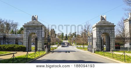 The Gate to Arlington Cemetery - WASHINGTON - DISTRICT OF COLUMBIA