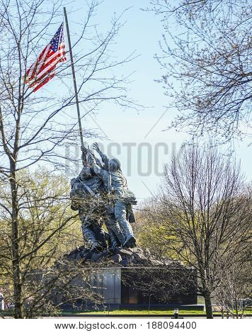 Iwojima Memorial in Washington - WASHINGTON - DISTRICT OF COLUMBIA