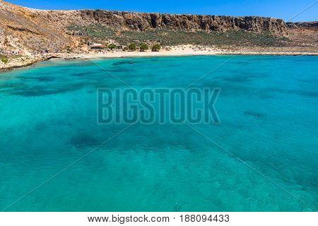 The bay of island Imeri Gramvousa. Crete. Greece.