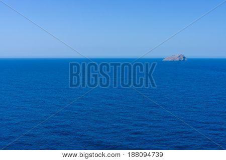 The seascape. The Mediterranean Sea near the island of Crete.
