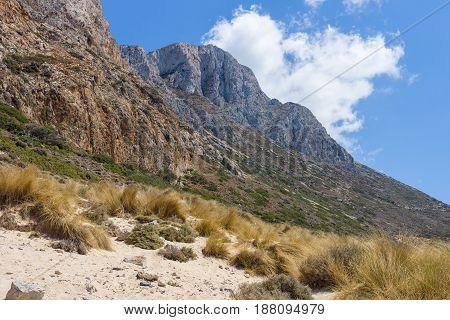 Balos beach. The west coast of the peninsula Gramvousa. The island of Crete. Greece.