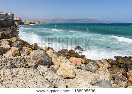 Quay in the city of Heraklion. Crete. Greece.