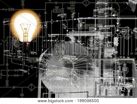 Engineering industrial power technology.Manufacturing designing.Energy industry.Industrial designing