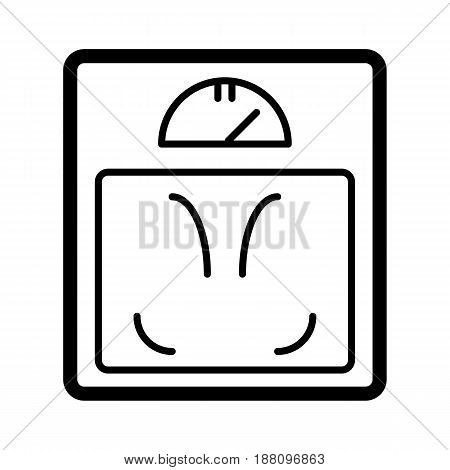 Floor scales vector icon. Black and white illustration. Outline linear icon. eps 10