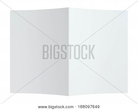 Folded paper page sheet texture. 3d rendering. white background