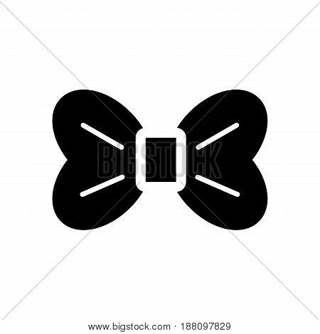 The bow vector icon. Black and white bow illustration. Solid linear beauty icon. eps 10