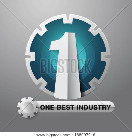 Number one industry. One of the best industrial symbols. Used as a logo or icon to represent a business.