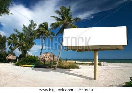 Tropical Paradise With Billboard