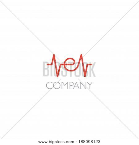 Vector eps logo with E letter company