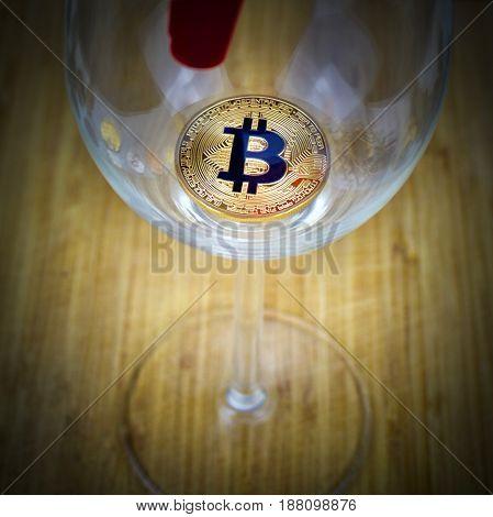 Bitcoin In Glass