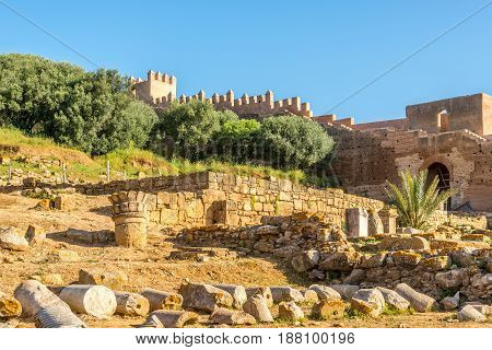 View at the ruins of Chellah (Sala Colonia) in Rabat - Morocco