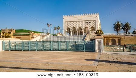 Mausoleum of Mohammed V. in Rabat - Morocco