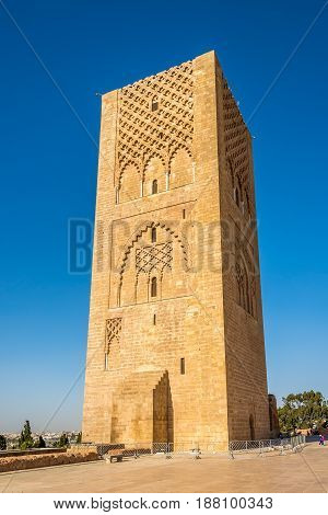 View at the Hassan Tower in Rabat - Morocco