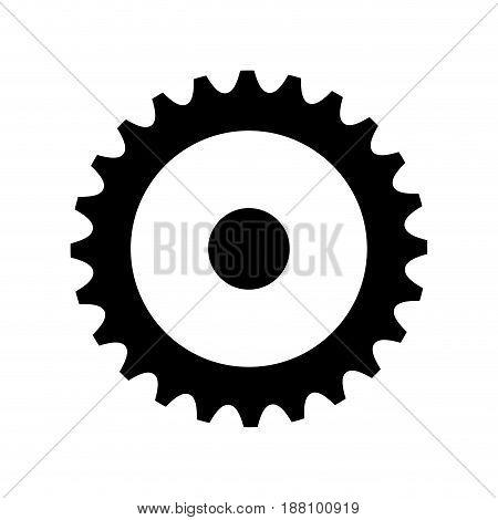 cog wheel icon over white background. vector illustration